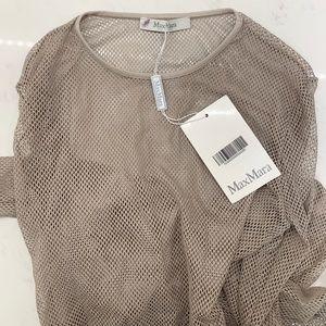 MaxMara Fishnet Long Sleeve Shirt